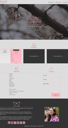 An alternate version of my online portfolio features my favorite flower - the sakura. #WebDesigner #WebDesign #DesignComp #OnlinePortfolio #Sakura #Tokyo #Japan