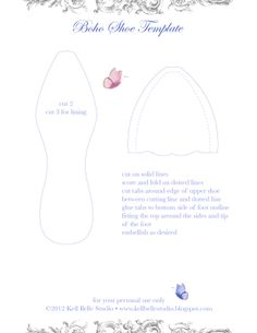 Kell Belle Studio: Boho Shoe Tutorial and Template