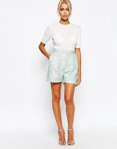 Fashion+Union+Boucle+Tailored+Shorts