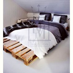 Cama de Casal Pallet Chicago® {Double Pallet Bed Chicaco®}
