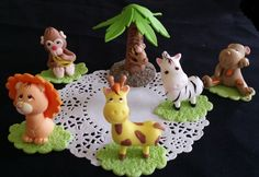 Jungle Party Decoration Baby Animals Cake Decorations Beautiful jungle party favor set it can be used in different Cake Decorations, party favors, Guess table Decorations, Safari and Jungle theme as t