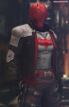 Red Hood Costume, Red Hood Cosplay, Red Hood Dc, Batman Red Hood, Dc Costumes, Super Hero Costumes, Batman Beyond Cosplay, Red Hood Wallpaper, Batman Arkham Knight