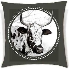 These soft, eye-catching cushions bring the beauty of the Nguni cattle to your living space. Duo Tone, Cattle, Moose Art, Cushions, African, Eye, Space, Animals, Beauty