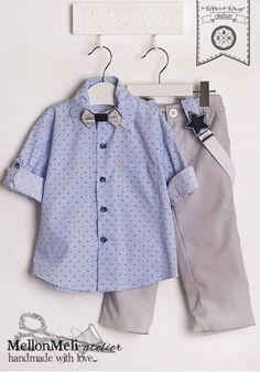 """Βαπτιστικό Dolce Bambini """"Little Mister"""" Little Man, Christening, Shirt Dress, Sweaters, Mens Tops, Shirts, Beautiful, Dresses, Fashion"""