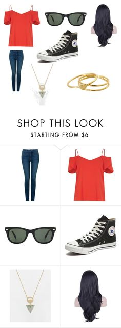"""""""Assassin-Welcome to Happy Harbor"""" by lilac-halo ❤ liked on Polyvore featuring NYDJ, River Island, Ray-Ban, Converse, ASOS and Gorjana"""
