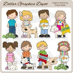 Big+Kids+-+Pets+-+Clip+Art+-+$1.00+:+Dollar+Graphics+Depot,+Quality+Graphics+~+Discount+Prices