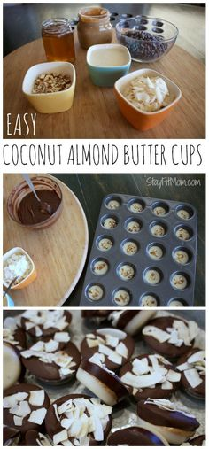 Easy Coconut Almond  Easy Coconut Almond Butter Cups  https://www.pinterest.com/pin/368380444513525145/