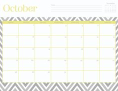 Oh So Lovely: Free October Printable Calendars!