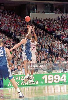 arkansas wins 1994 national championship | NCAA Final Four, Arkansas Scotty Thurman in action, taking shot vs ...