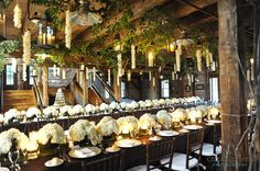 The decor at Pats Barn in Troy, NY Longfellows loves helping our couples create the wedding of their dreams!