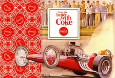 Coca-Cola - Cars, Rail Dragster by 9teen87's Postcards