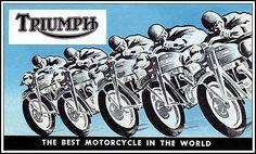 Triumph Motorcycle Art Posts 43 New Ideas Motorcycle Wedding, Motorcycle Posters, Bobber Motorcycle, Triumph Motorbikes, New Motorcycles, Triumph Motorcycles, Triumph Logo, Automobile, Triumph Street Triple