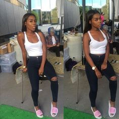 Image about girl in outfits fresh 💦😏💸 by famoustrin Dope Fashion, Fashion Moda, Fashion Killa, Womens Fashion, Teen Fashion, Fashion Ideas, Fashion Beauty, Summer Outfits, Casual Outfits
