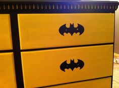 Davids Batman room., I just got down with my nephews bedroom. It is a batman room with a bat cave and the bat mobile bed. , The dresser, Boys Rooms Design