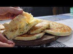 KAHVALTILARIN ASSOLİSTİ OLUR KENDİLERİ 💯 5 DK DA YAP TAVADA PİŞİR ✅ İÇİ TEL TEL AĞIZDA ERİYEN 🔝 - YouTube Savory Tart, Cooking Chef, French Food, Daily Bread, Bread Baking, Brunch, Pizza, Waffle, Cheese