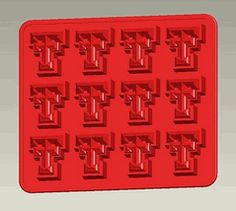 Texas Tech TTU Red Raiders Logo Ice Tray & Candy Mold - Set of 2 $18.00