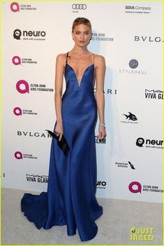 Martha Hunt in Armani Prive - Elton John AIDS Foundation's Oscar Viewing Party