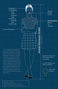 An infographic about myself. #architect #infographic #cv