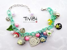 Totoro bracelet Studio Ghibli Jewelry Anime Miyazaki gadget clay Tivibi creations; I could definitely make something like this!
