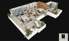 S+2c : 87 m²  Cet appartement, situé du 1er au 4ème étage des pavillons jumelés, offre une cuisine modulable. L'espace de réception se divise en une salle à manger et un séjour de réception. Une suite parentale accueille un dressing et une salle de bains. La suite enfant, intègre de grands rangement et une salle de bains optimisée. Un vestiaire invité offre davantage de confort au quotidien. Deux larges balcons, permettent de vivre à l'intérieur et à l'extérieur de l'appartement.