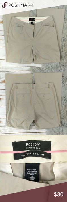 Body by Victoria's Secret Christie Fit Khaki Pants Body by Victoria's Secret Christie Fit Khaki Pants Size 12 in good used condition. Victoria's Secret Pants Boot Cut & Flare