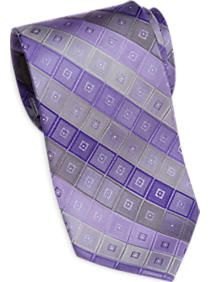 Calvin Klein Purple and Gray Diamond Tie