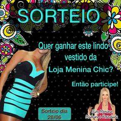 #O Blog Menina Madura e Prendada e a nossa parceira Menina Chic sortearão um lindo vestido.