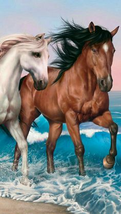 The detail of these magnificent horses! Tier Wallpaper, Paintable Wallpaper, Horse Wallpaper, Animal Wallpaper, Seagrass Wallpaper, Emoji Wallpaper, Colorful Wallpaper, Fabric Wallpaper, Screen Wallpaper