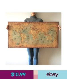 Vintage style retro world map poster home decoration wall art map vintage style retro world map poster home decoration wall art map ancient picture top rated paintings 1469 home decor room gumiabroncs Gallery