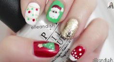 Christmas nails by Ellendish