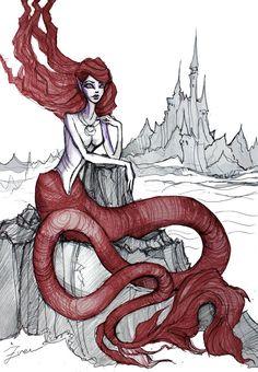 Little mermaid by IrenHorrors.deviantart.com on @deviantART