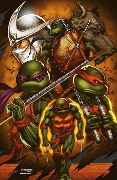 Teenage Mutant Ninja Turtles  Shredder and Splinter  by Wizyakuza