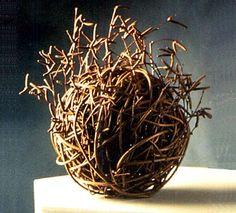 Lizzie Farey, Willow and Birch Catkin Ball ~ 1997