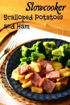 Slow Cooker Scalloped Potatoes and Ham on MyRecipeMagic.com