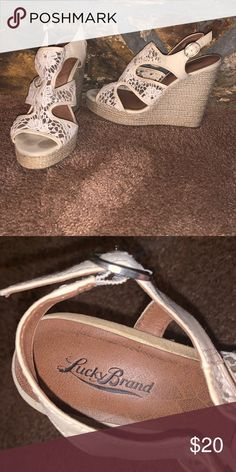 b5faa0db4d715 Lucky brand wedges Lucky brand Size 10 Great condition   Make offer   Lucky  Brand Shoes