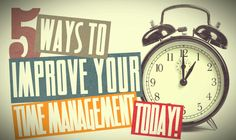 Getting things done is often trickier than it sounds.  Many of us work hard, yet end the day with little to show for it. Here's five things will immediately improve your time management.    Check it out here: http://wadeoradio.com/5-ways-to-improve-your-time-management-today