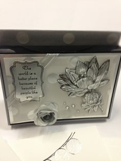 People like you Gift Box -  Eva Gail Lowe SK. Canada, Stamp sets: People like you Best of Shelli Happy Congratulations Spiral Flower die