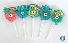 12 Monster Sour Lolli's por SweetsIndeed en Etsy