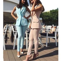 Good Price for Bespoke Custom Made Spring Summer Women Slim Fit Pants Suit Sleeveless Jacket for Business Office Ladies Evening Outfit . Ladies Evening Wear, Evening Outfits, Summer Work Outfits, Office Outfits, Business Outfits, Business Attire, Business Chic, Classy Outfits, Casual Outfits