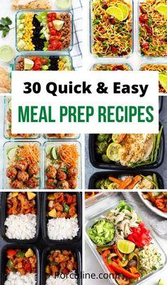 Meal Prep Dinner Ideas, Easy Lunch Meal Prep, Best Meal Prep, Sunday Meal Prep, Healthy Quick Meals, Healthy Recepies, Lunch Recipes, Dinner Recipes, Planning Menu
