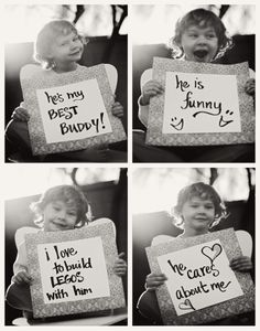 Photo gift idea- I love daddy because...