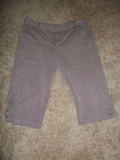 22da20fc7f73 PLUS LADIES CASUAL CROPPED PANTS BY WORTHINGTON STRETCH ....SIZE 20W   fashion