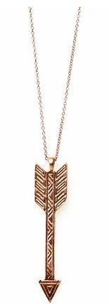 Pi Phi golden arrow necklace #piphi #pibetaphi