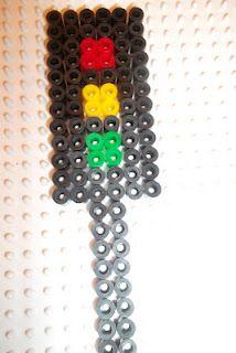 Perler bead traffic light