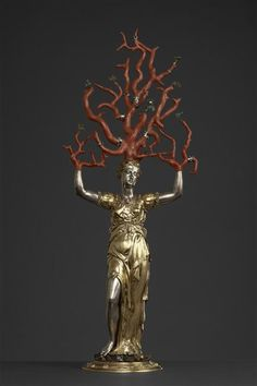 420mermaid:  aleyma:  Wenzel Jamnitzer, Daphne, 16th century (source).  a piece of my soul is coral