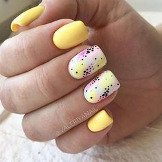 23 Great Yellow Nail Art Designs 2019 - All For Hair Color Trending Yellow Nails Design, Yellow Nail Art, Color Yellow, Cute Acrylic Nails, Cute Nails, Pretty Nails, Nagel Gel, Stylish Nails, Perfect Nails