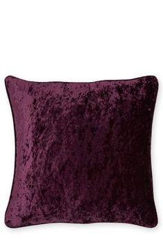 Plum Crushed Velvet Cushion