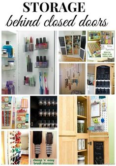 Need extra storage in your home? Check out these great ideas for making extra storage behind doors!