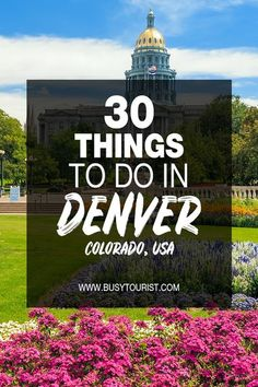 Traveling to Denver, CO soon and wondering what to do there? This travel guide will show you the top attractions, best activities, places to visit & fun things to do in Denver, Colorado. Start planning your itinerary & bucket list now! #denver #denvercolorado #colorado #coloradovacation #coloradotravel #usatravel #usatrip #usaroadtrip #travelusa #ustraveldestinations #ustravel #vacationusa #americatravel Usa Travel Guide, Travel Advice, Travel Usa, Travel Europe, Budget Travel, Travel Guides, Travel Tips, Beautiful Places To Visit, Cool Places To Visit