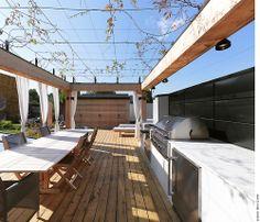 Martine Brisson / toit terrasse, cuisine extérieure, Montréal